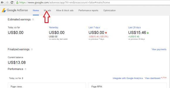 how to create ad code google adsense