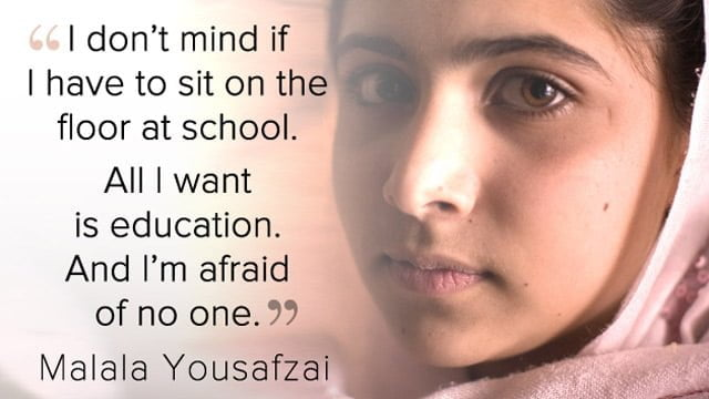 Inspiring & Motivational Quotes By Malala Yousafzai with Images