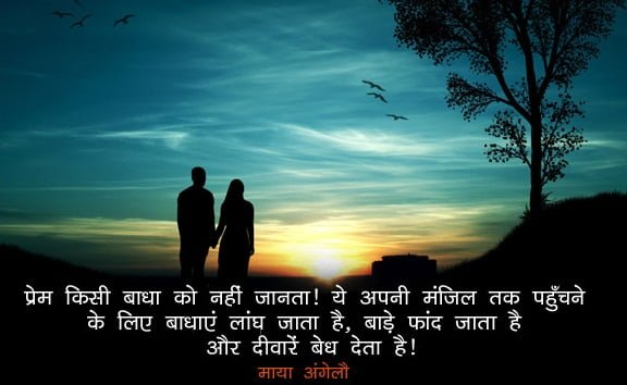 Maya Angelou Quotes On Love in Hindi