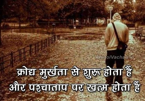 Anger Quotes in Hindi - Krodh Thoughts Images