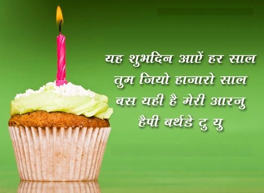 Birthday SMS in Hindi with Pics