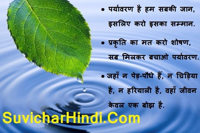 Environment Related Quotes & Sayings in Hindi