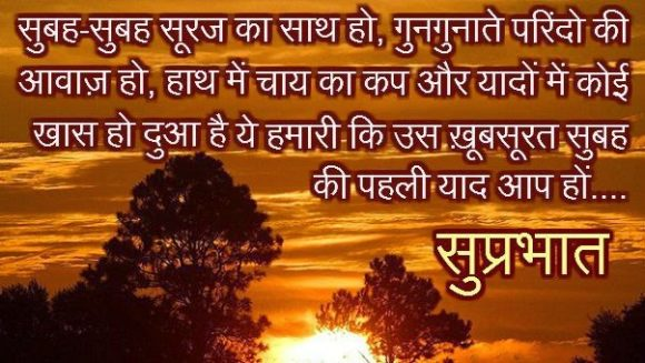 Good Morning Hindi Shayari With Images For Lover अचछ सच