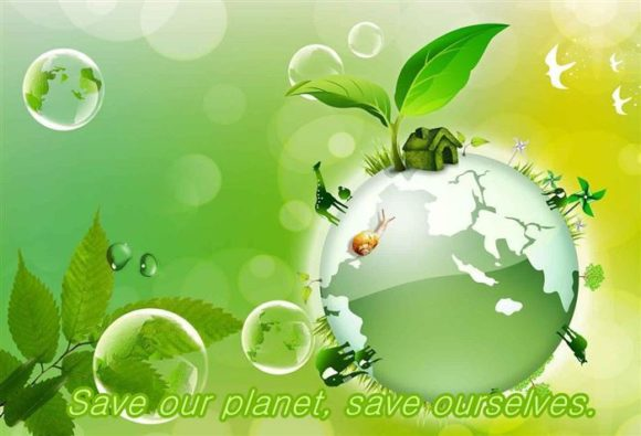 Save Earth Slogans in Hindi Poster
