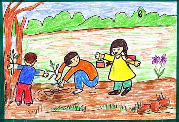 Save Environment Drawings Ideas for Kids
