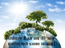 Slogan On Save Environment In Hindi Poster